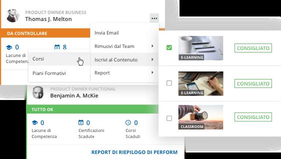 Supporta percorsi formativi personalizzati per ogni utente
