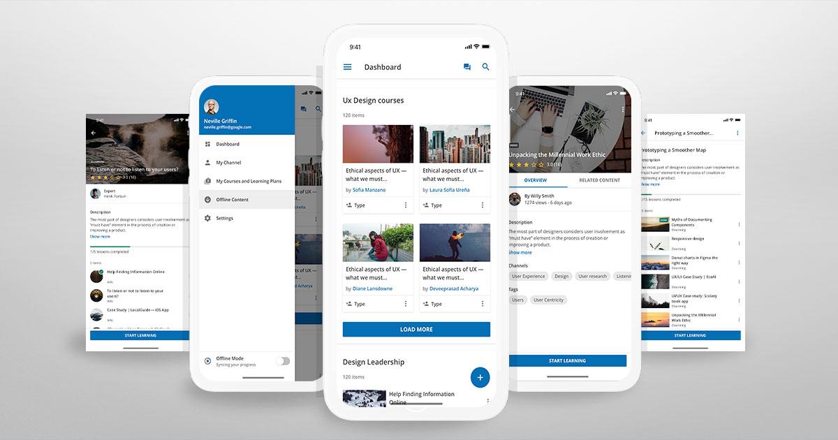 Lleve las experiencias de aprendizaje móvil al próximo nivel cn un app móvil de marca.