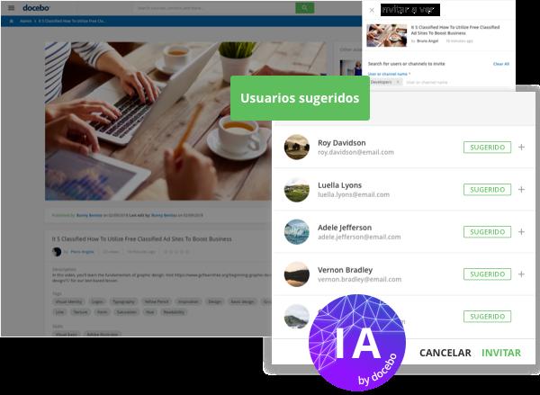 Docebo Coach & Share (Aprendizaje social)