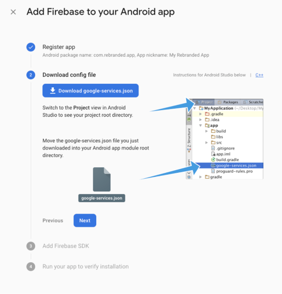 add firebase to your Android app 2