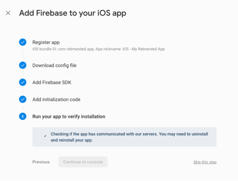 add firebase to your iOS app 3
